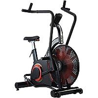 Preisvergleich für AsVIVA F1 Air-Bike Pro Heimtrainer und Ergometer, Pro Turbinen Trainer mit Riemenantrieb inkl. Fitnesscomputer, schwarz