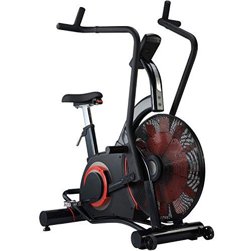 AsVIVA Heimtrainer & Ergometer F1 Air-Bike Pro EIN Pro Turbinen Trainer mit Riemenantrieb inkl. Fitnesscomputer mit 7 Trainingsprogrammen sowie Herzfrequenzmesser & integrierter Pulsempfänger