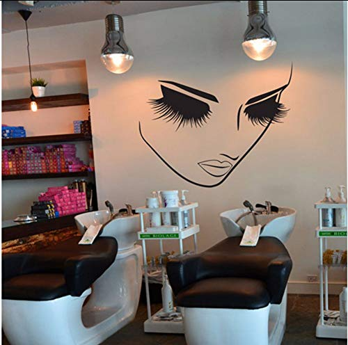 Wandaufkleber Lashes Beauty Salon Abnehmbare Wandtattoo Lash Bar Kosmetik Stor Wand-Dekor42X51Cm ()