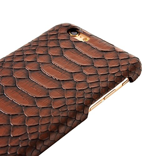 GHC Cases & Covers, Für iPhone 6 Plus & 6s Plus Snakeskin Texture Hard Back Cover Schutzmaßnahmen zurück Fall ( Color : Brown ) Brown