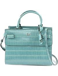 Guess handbag cate satchel Petrol