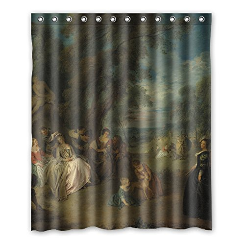 Rinascimentale personalizzato europeo tenda della doccia modo dell'acquerello 152 cm x183 cm (60x72 pollici), tenda della doccia bagno, tessuto 100% poliestere.