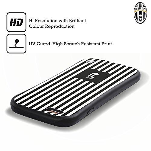 Ufficiale Juventus Football Club Banale Lifestyle 2 Case Ibrida per Apple iPhone 6 / 6s Bianco E Nero Strrisce