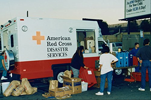 505008 Red Cross Near Interstate 880 Collapse Oakland CA A4 Photo Poster Print 10x8 (Oakland, Ca-poster)