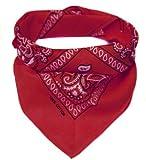 Oramics PldAmalyze Bandana Kopftuch Halstuch gemustert in 24 verschiedenen Farben! (rot)