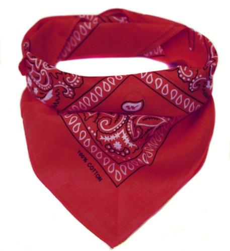 Oramics PldAmalyze Bandana Kopftuch Halstuch gemustert in 24 verschiedenen Farben! (rot) (Blau, Rot, Weiß, Stirnband)
