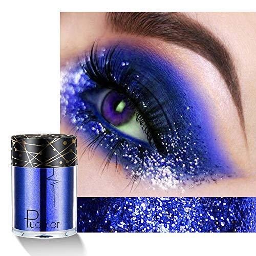 SMILEQ Mehrzweck Schimmer Glitter Augen Schatten Pulver Paletten Mattaugenschminke Kosmetik (1H) - 1h-bar