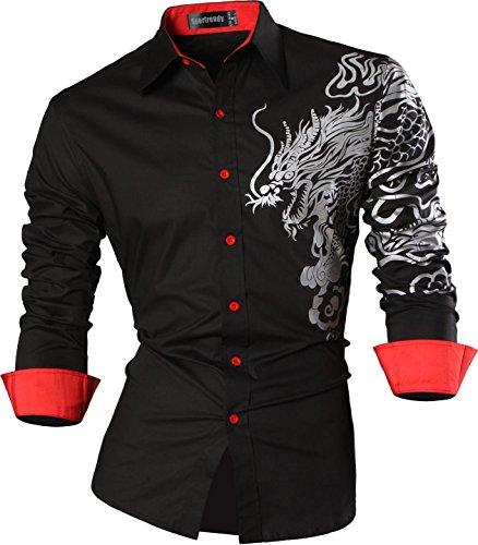 f5764935ce9f Zum Angebot · Sportrendy Herren Freizeit Hemden Slim Button Down Long  Sleeves Dress Shirts Tops JZS041
