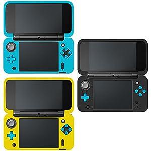 AFUNTA Schutzhülle für Neue Nintendo 2DS XL, Set aus 3 Anti-Rutsch-Silikon-Abdeckung mit Komfort-Feeling – Schwarz, Blau…