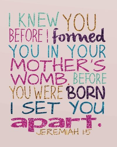 I knew you before I formed you in your mother's womb. Before you were born I set you apart: Bible Verse Bullet Journal Dot Grid l Notebook (8' x 10') ... Journal Christian Floral notebook Series)