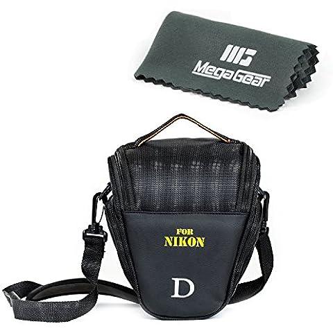 MegaGear Ultra Light - Funda estuche protector para camaras réflex Nikon, color negro