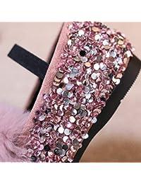 fe43fa19c Zapatos de niña Zapatos Casuales Princesa Hebilla Lentejuelas Fiesta Zapatos  de Boda (Color   Rosado