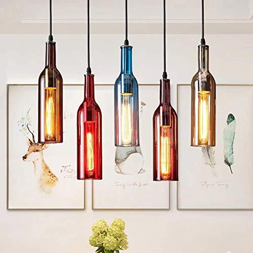 Gaorb 5-Light Creative Glass ChandeliersLight Society Morley Kitchen Island Anhänger, Mattschwarzer Farbton mit klaren Glasplatten, moderner industrieller Kronleuchter [Energieklasse A] - Bordeaux 3 Light-anhänger