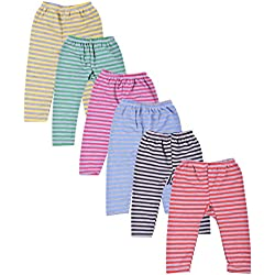 Kuchipoo Babies' Fleece Pants, Combo of 6 (KUC-PAJ-109, Multicolour, 3-6 Months)