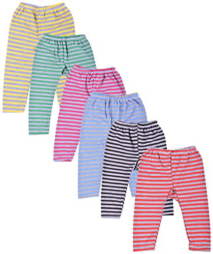 kuchipoo Unisex Regular Fit Fleece Pyjama Bottom (KUC-PAJ-109_3-6 Months_Multicolor)