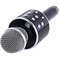 Callie Wireless mike with speakers for singing WS-858 Bluetooth mic with Portable Speaker