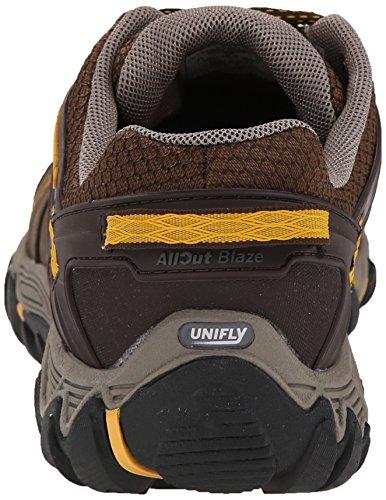 Merrell Allout Blaze, Chaussures de randonnée basses homme Braun (Black Slate/Yellow)