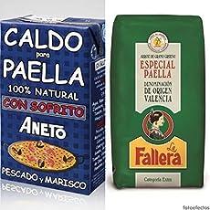 1kg Riso Speciale Paella la Fallera.- D.O. Valencia + 1lt Brodo per Paella con sofrito Aneto