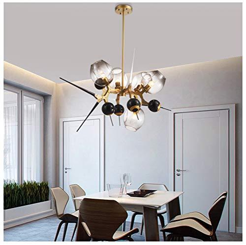 NIUZIMU Kronleuchter Kronleuchter Postmodern Minimalistische Lampe Nordic Kreative Persönlichkeit Wohnzimmer Esszimmer Villa Glaskugel Molekül Pendelleuchte Restaurant Licht
