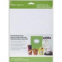 Cricut Papel Adhesivo imprimible 8.5 x 12 Pulgadas, Blanco