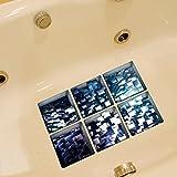 Kingko® 6PCs A Set 3D DIY Pattern Bath Decoration Stickers Anti Slip Waterproof Bathtub Sticker (E)