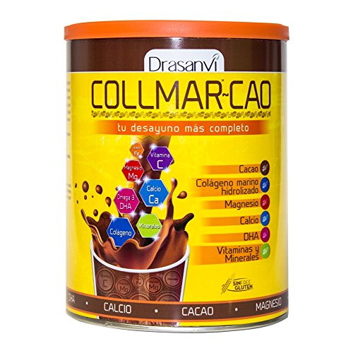Collmar Cao Colágeno Marino Hidrolizado con Cacao, DHA, Magnesio y Calcio 300...