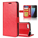 Casefirst Doogee X30 Case, Doogee X30 Leather Case Folio Flip Cover Pouches Slim Shell for Doogee X30 (Red)