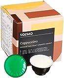 Marca Amazon-Solimo Cápsulas Cappuccino, compatibles Dolce Gusto- café certificado UTZ- 96 cápsulas (6 x 16)