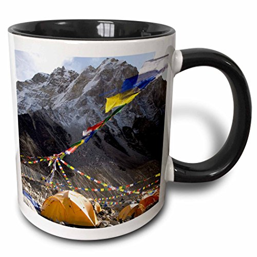 3dRose Nepal MT Everest Base Camp Zelt für Khumbu glacier-as26 dny0031-david Noyes-Two Ton Becher, Keramik, Schwarz, 10.16 cm x 7,62 x-Uhr