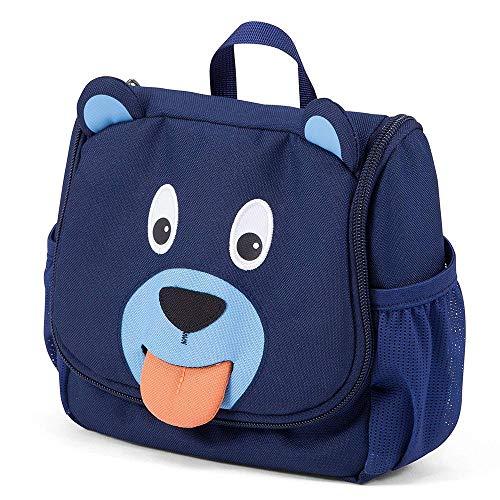 Affenzahn Kulturtasche Bobo Bär für Kinder  - Blau