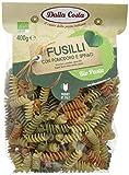 Dalla Costa Alimentare Fusilli Pasta di Semola di Grano Duro Tricolore Biologica con Pomodoro e Spinaci - Pacco da 400 g