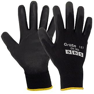 12pares de guantes de nailon SBS, talla 7hasta 11, guantes de trabajo, guantes de protección