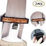 KOBWA Auto Sicherheitsgurt Tension Einstellknopf Sicherheitsgurt Clips Träger Verstellbar Sperren Schnallen Holz
