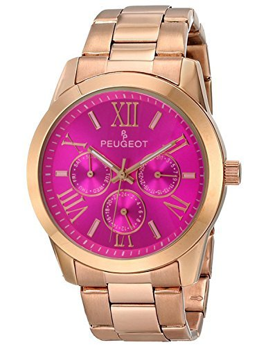 Peugeot Women's 7095PK Analog Display Japanese Quartz Rose Gold Watch