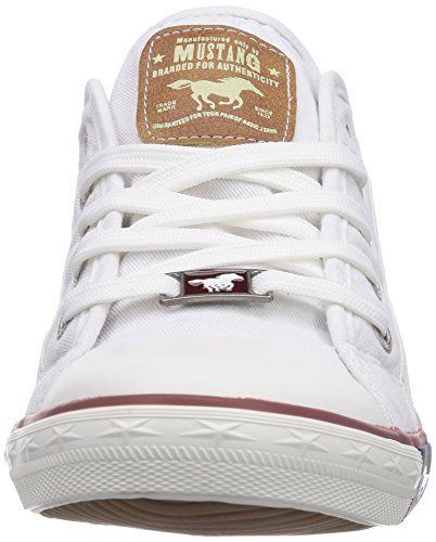 Mustang 1099302 0, Baskets mode femme Blanc (1 Weiss)