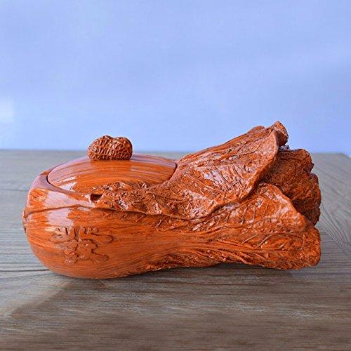 LOSTRYY Mode kreativ Harz Aschenbecher mit einem roten Kürbis Handwerk Geschenk Wohnzimmer Rauch cup Ornamente, Kohl 21 * 11 * 10,5 CM (Lila Kürbis Geschenke)
