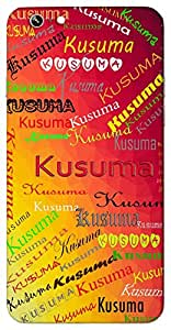 Kusuma (flower) Name & Sign Printed All over customize & Personalized!! Protective back cover for your Smart Phone : Samsung Galaxy Grand Max G720