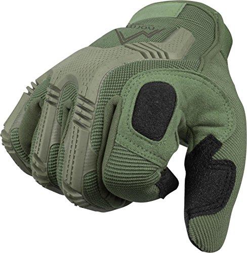 Vollfinger Allround Einsatzhandschuhe für Sport und Outdoorbereich Farbe Oliv Größe L