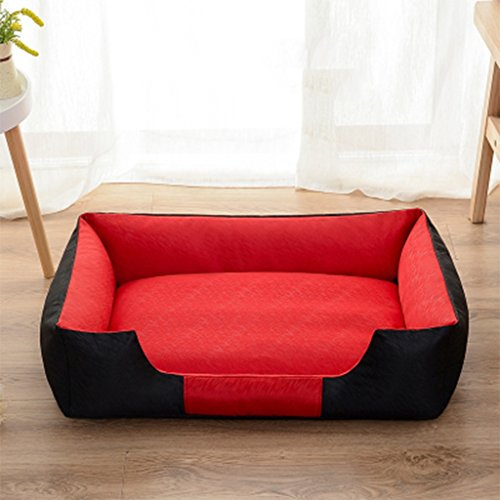 Schlafplätze Möbel Betten Antihaft-Hundezwinger Waschbarer Sommerzwinger Pomeranian Golden Retriever Hundebett (Color : Red, Size : M)