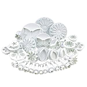 SYGA Flower Fondant Cake Sugarcraft Decorating Kit Combos (Cookie Cutter)