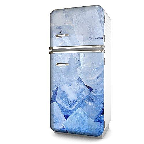 Kühlschrank-Folie Eiswürfel selbstklebend mehrere größen | Sticker-folie | Klebefolie | Kühlschrank-Aufkleber | Front-folie | Dekoration | Küche | Deko-folie | Möbel-folie | Vinyl-folie