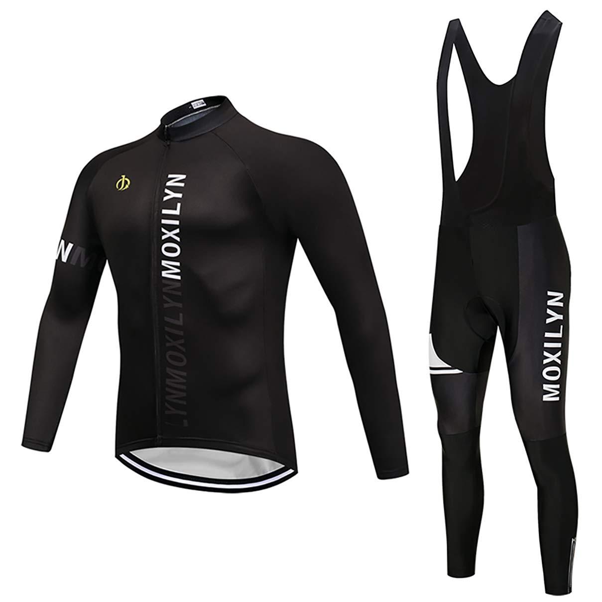 3217520e9e1982 Moxilyn Abbigliamento Ciclismo da Uomo,Maglia Manica Lunga+Pantaloni ...