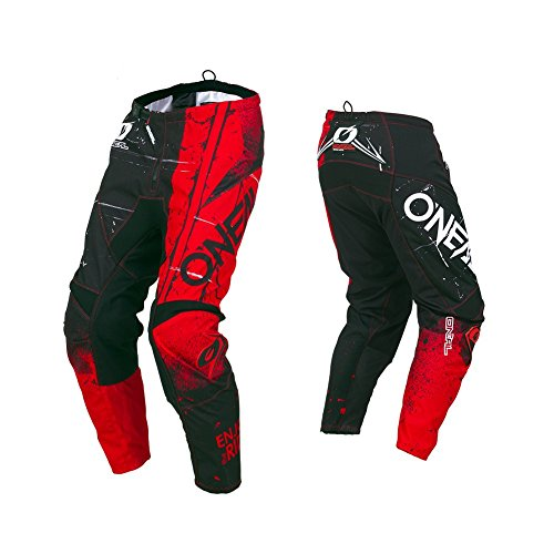 O\'Neal Element Shred Kinder Motocross Hose MX Kids All Mountain Bike MTB Downhill Freeride DH FR, 010E-S-Youth, Farbe Rot, Größe 22