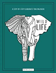Wild Life: A Step By Step Elaborate Tracing Book With Animal Zentangle Designs Learn To Draw And Trace For Adults Picture Activity Fun Creative Book With Emerald Green Color Cover