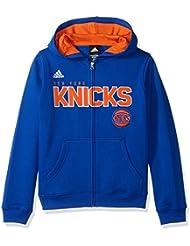 "New York Knicks Youth Jeunes NBA Adidas ""Stated"" Full Zip Hooded SweatShirt Chemise"