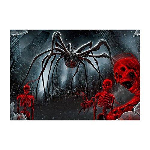 powlance Halloween Spider Skelett 5D DIY Full Bohrer Diamant Rund Malerei Craft Einheitsgröße Nr.1 (Leben Größe Skelett Halloween)