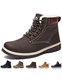 57c3724698c8 Sixspace Mens Womens Winter Boots Warm Light Snow Walking Boots Ladies Faux  Fur Lined Ankle Shoes Footwear with Non-Slip Rubber Sole for…