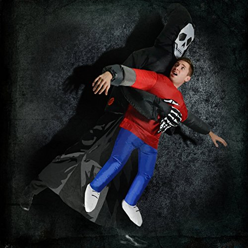Inflatable Grim Reaper Halloween Death Scary Spooky Skeleton Fancy Dress Blow Up Party Cosplay Costume