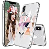 IPhone X Case, IPhone 10 Case, MOSNOVO Geomatric Marble Pattern Clear Design Transparent Printed Plastic Hard Back Phone Case With TPU Bumper Protective Case Cover For IPhone X / IPhone 10