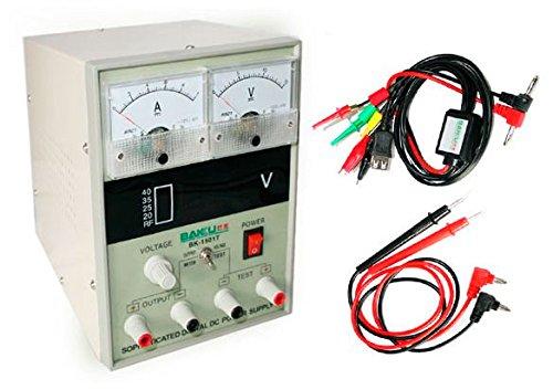 BAKU-1501T Fuente Alimentación Regulable (Potencia 15W, Medición de Voltaje,